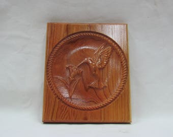 3d carved Hummingbird  Wall Hanging