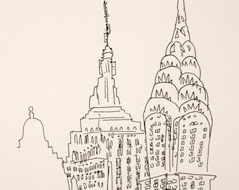 Chrysler and Empire State Buildings