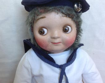 Googly Sailor Doll by The Little Hamptons.