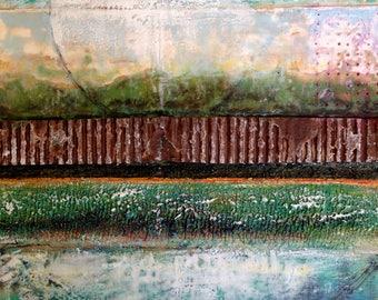 SALE~Encaustic Painting Satellite