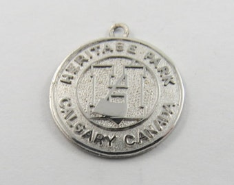 Heritage Park in Calgary Alberta Canada Silver Charm of Pendant.