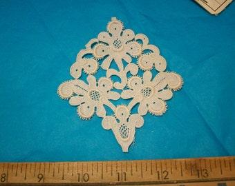 1 Venise lace antique cotton applique victorian