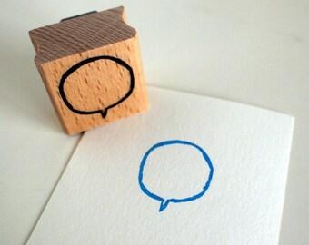 little speech bubble - rubberstamp - 30x30cm - by SiebenMorgen