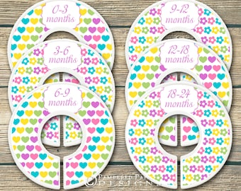 Baby Dividers - Closet Dividers - Nursery Decor -  Baby Shower Gift