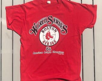Vintage 80s Boston Red Sox MLB Baseball Shirt