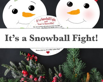 It's a Snowball Fight-Printable-Instant download-Games-Activities-Neighborhood Fun
