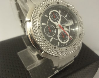 Gent's boxed Ultimate Stainless Steel Chrono watch nbr  ULCH02