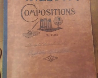 1930/1931 history composition notebook