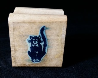 Sitting Cat Used Rubber stamp View all Photos