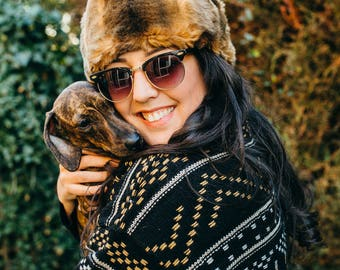 Brown Faux Fur Hat