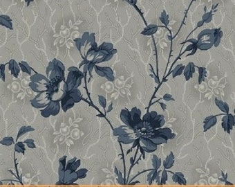 The Blue and the Gray Small  Floral Civil War Reproduction   By the Yard