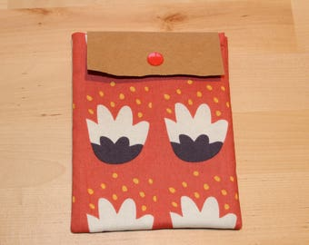 "Multi-Purpose Fold Over Pouch | Small Electronics Pouch | Cosmetic Pouch | 4.75"" w x 6.25"" h"