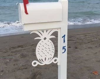 Pineapple Mailbox Bracket - Large. Long Lasting & Fabulous! Also, anchor, ship, starfish, sand dollar, gecko  and many more!