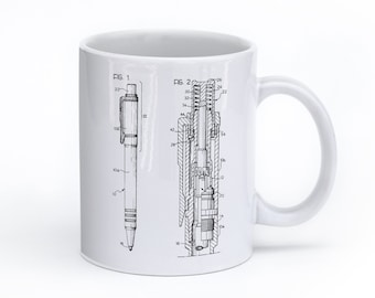 Ball Point Pen Mug, Office Gifts, Unique Coffee Mug, Tea Mug, Office Coffee Mug, Writer Mug, PP0163
