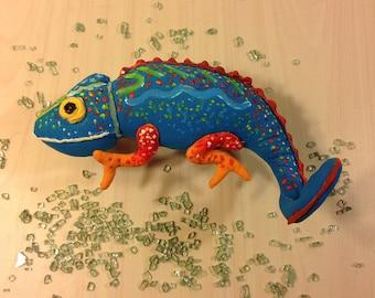 Chameleon Toy Iguana toy Lizard toy stuffed animal reptile gift Lizard art blue chameleon stuffed dinosaur animal toy