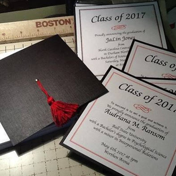 Graduation Cap Invitation or Announcement Highschool