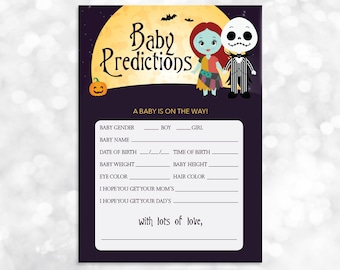 Jack sally invite etsy nightmare before christmas baby prediction card printable baby shower instant download 023 filmwisefo