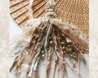 Boho Gypsy Tassel Handmade Ornament Home Decor Lace and Pearls