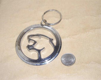 Vintage Signed Ford Chrome Cougar Key Chain Bold 1970's 3101
