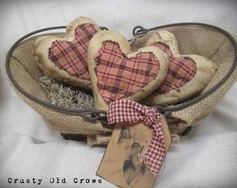 Primitive Heart Bowl Fillers/Ornaments