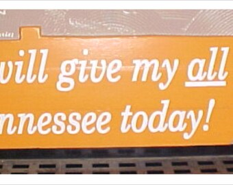 University of Tennessee Vols CUSTOM Hand Made wood state of tennessee I will give my all