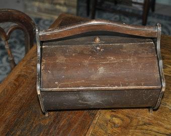Older Small Wood Sewing Box