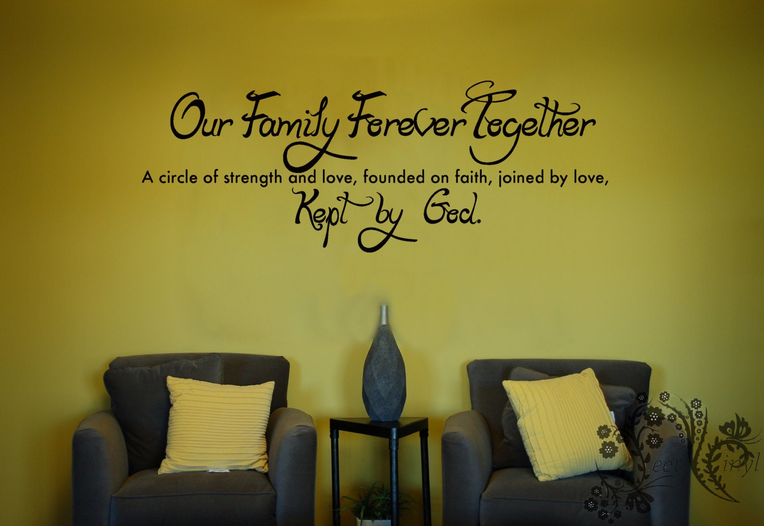 Our Family Forever Together A circle of strength Family wall