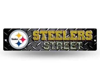 Pittsburgh Steelers NFL Plastic Street Sign