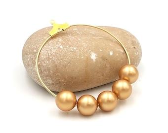 15 8mm Pearl Crystal Vintage Gold Swarovski pearls