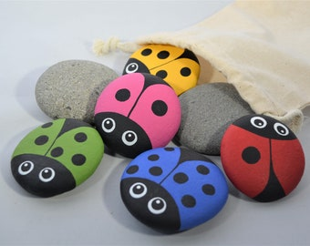 Counting Bugs 10 piece Story Stone Set