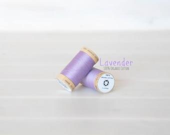 Organic Cotton Thread GOTS - 300 Yards Wooden Spool  - Thread Color Lavender - No. 4812 - Eco Friendly Thread - 100% Organic Cotton Thread