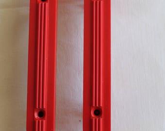 Pair Red Bakelite Handles 1930's