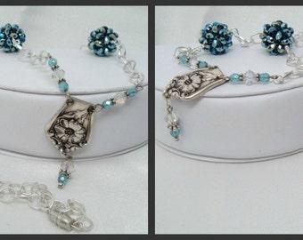 Repurposed Flatware Necklace with Handmade Beaded Beads