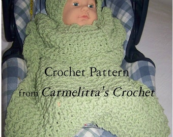 Infant Car Seat Bunting Wrap Crochet Pattern