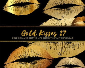 Gold lips clipart, Gold kiss, Glitter lips clipart, Gold foil clipart, Lipstick clipart. Lips clipart, Kisses clipart, Love clipart