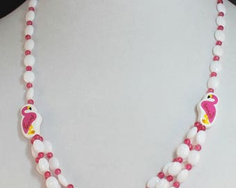 Pink Flamingo Necklace