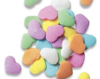 Pastel Hearts Quins Edible Sprinkles - 8 oz