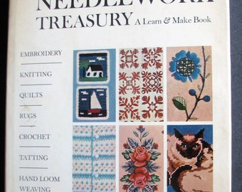 1960s Sewing Book McCall's Needlework Treasury Book 1964