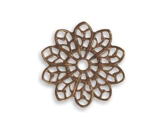 Vintaj 20.5mm Filigree Flower (2)