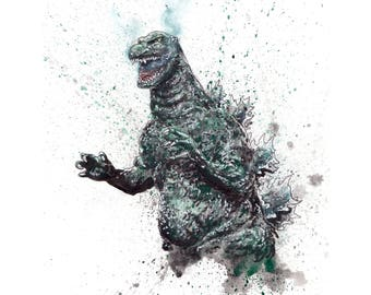 King of Monsters Godzilla 11x14 Signed and Numbered Art Print