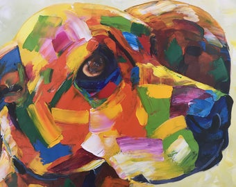 Custom Dog Portrait Custom Pet Portrait from Photo. Custom Pet Painting Dog Lover Gift Cat Portrait. Abstract Painting Personalized Pet Gift