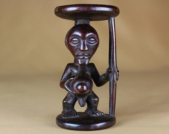 Luba ancestor statuette from the Congo
