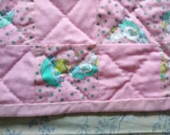 Sweetheart girl baby quilt