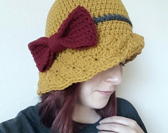 Simple Shells Cloche Hat Crochet Pattern *PDF DOWNLOAD ONLY* Instant Download
