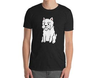 Funny Westie Shirt, Cute Cartoon West Highland White Terrier Dog Gift T-Shirt
