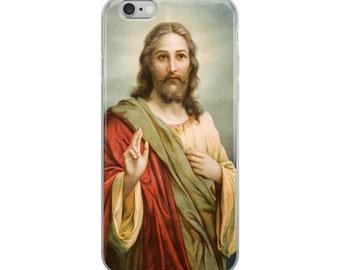 iPhone Case - Jesus Christ blessing - ALL MODELS - christian case - christian cover - catholic iPhone cover - Jesus gift