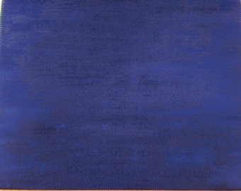 Texture Solid Pattern Fabric in Dark Blue on Satin Cotton Blend With Metallic Finish For Drapes, Roman Shades & Valances