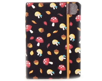 cute Kindle Cover - Autumn Mushrooms - kindle paperwhite cover - also fits Touch - case for eReader - tech gadget gift - woodland