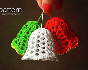 Crochet Pattern - Crochet Christmas Bells (Pattern No. 020) - INSTANT DIGITAL DOWNLOAD