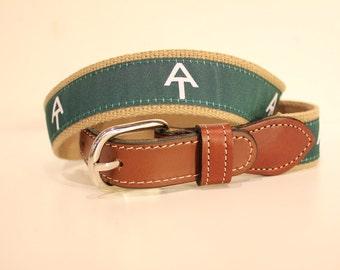 Appalachian Trail  men's Web Leather Belt